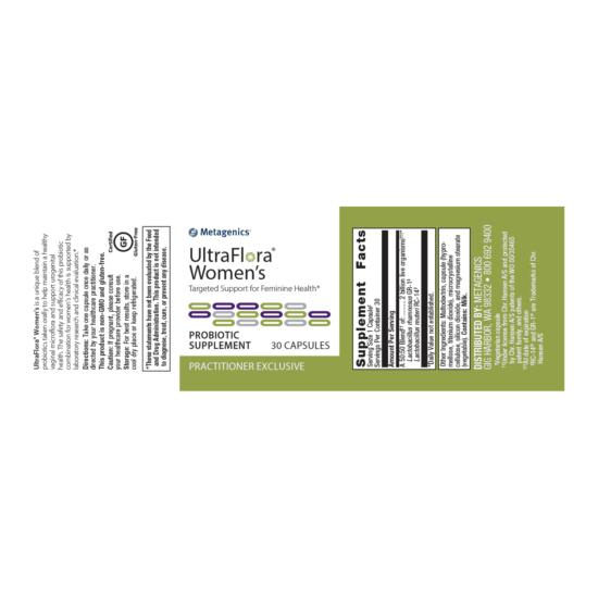 UltraFlora Womens Gut Health Label